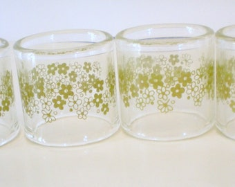 Vintage Pyrex Napkin Rings Compatibles by Pyrex Glass rings Retro Kitsch