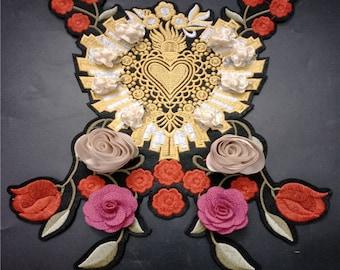 3D flower floral patch applique sew on patch vintage patch