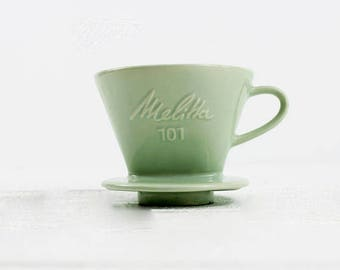 Mint Melitta 101 Coffee Filter - Vintage Coffee Dripper, Coffee Cone, Vintage Coffee Maker, Coffee Dripper, Coffee Lover Gift, E531