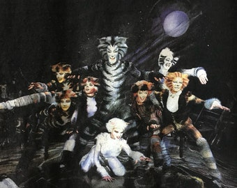 Vintage 1981 Cats T-Shirt-Cats The Musical T-Shirt-Cats Cast T-Shirt-Youth Cats Tee