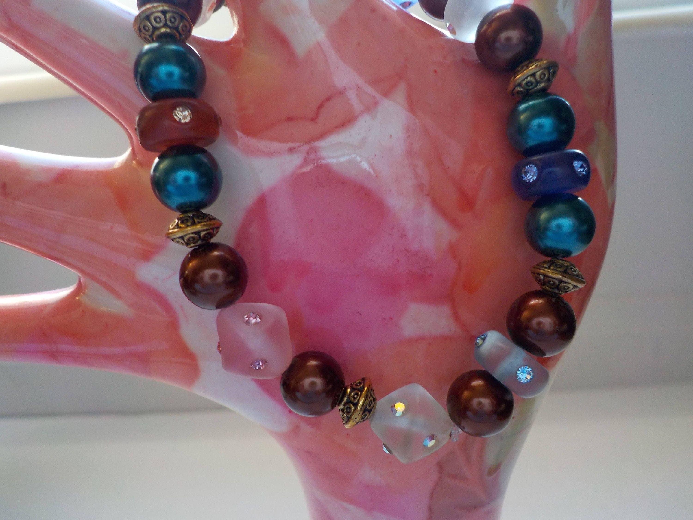 Jewelry SALE, Assorted Fall Colors, Swarovski Crystals, Pearls, Boho ...