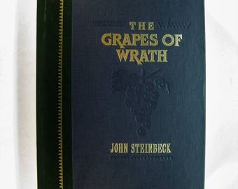 The GRAPES OF WRATH, John Steinbeck - Very Good Plus 1991 Illustrated Hardcover