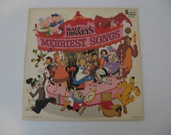 Walt Disney - Merriest Songs - Circa 1968