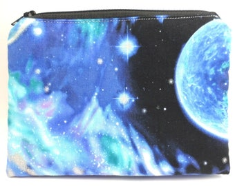 "Double Mini Wet Bag 6"" x 4.5"" approx. Galaxy Cosmos print."