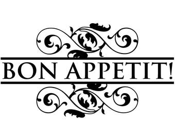Bon Appetit type 1 wall Decal