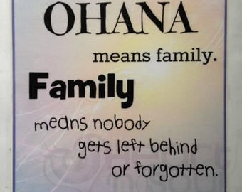 Ohana Means Family Sign / Wall Decor / Plaque / Wall Hanging