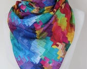 Printed Scarf Gift for her Women Shawl Women Scarf Colorful women Shawl Gift for Wife 2018 fashion Scarf for her Long Shawl scarf Fall scarf