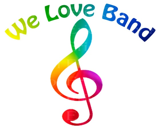 We Love Band Music Notes Rainbow Birthday - Edible Cake and Cupcake Topper For Birthday's and Parties! - D22709
