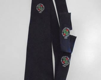 Vintage Advertising Tie Scottish Rugby Union Match - Scotland England 1984