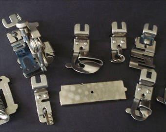 Greist Sewing Machine Attachments - Tucker, Binder, Ruffler & More - Lot of 9 Pieces