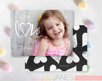 Happy Love Day Valentine Photo Card   Digital Printable Valentine Card   Classroom Photo Valentine   Custom Valentine Card
