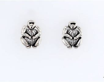 Sterling Silver Gorilla Choice - Charm, Post, Dangle Earrings, Necklace