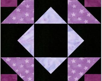 Independence Star 15 Inch Block Paper Template Quilting Block Pattern PDF