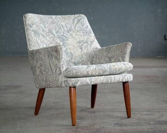 Ole Wanscher Style 1960s Danish Easy or Side Chair