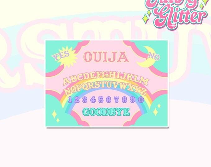 Rainbow Ouija Board Holographic Sticker