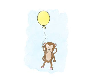 Monkey downloadable wall art