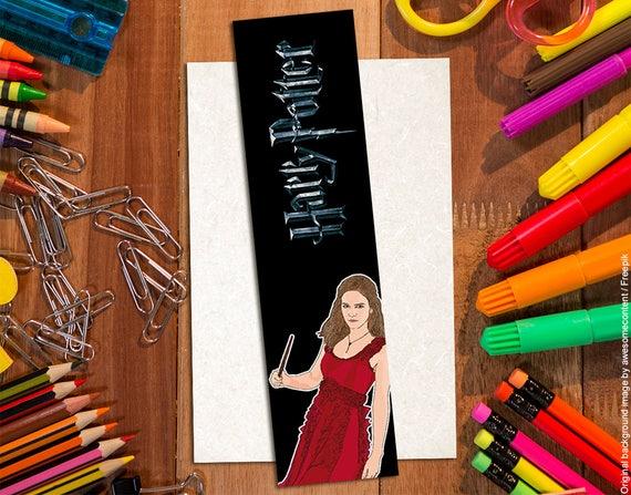 Top Segnalibro Hermione Granger. Emma Watson. Segnalibro Harry PI79