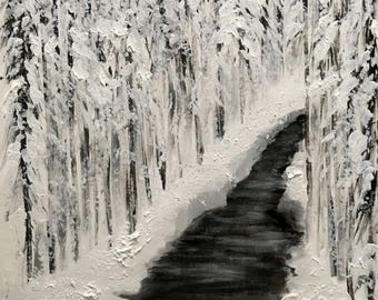 Snowy Forest ORIGINAL PAINTING
