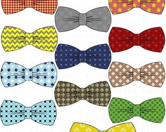 80% OFF SALE Bow Tie Digital Clip Art - Personal and Commercial Use - Instant Download - C130