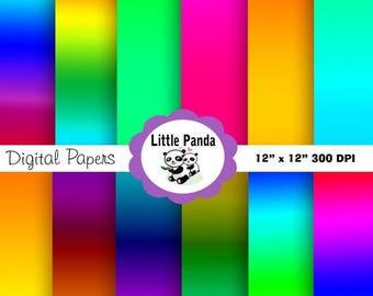 60% OFF SALE Brights Digital Paper Pack, Digital Scrapbooking, 12 jpg files 12 x 12 - Instant Download - D14