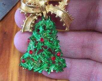 Vintage Christmas Bell ~ Pin ~ Brooch