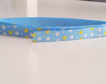 1 meter ☆ dot blue grosgrain Ribbon