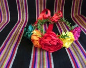 Corona De Flores Estilo Frida Kalo Fiestas Mexicanas Indepen