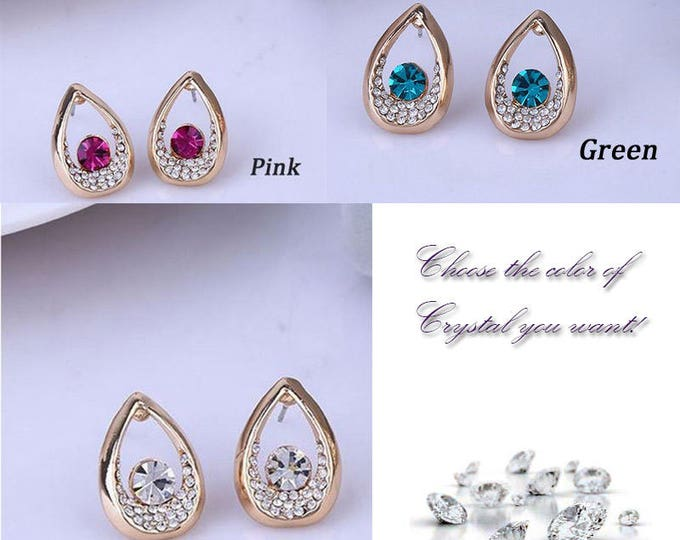 Amazingly Gorgeous Water Drop Crystal Earrings Jewelry