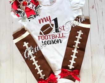 My First Football Season bodysuit/football/football bodysuit
