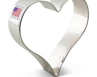 """Heart Cookie Cutter 3 5/8""""-Ann Clark-Made in USA"""