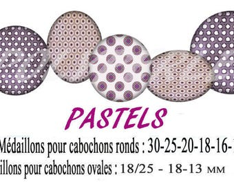 Images digital jewelry pastel cabochons
