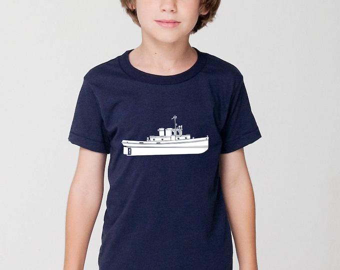KillerBeeMoto: Vintage 35 Foot Steelcraft Tug Boat Short Or Long Sleeve T-Shirt