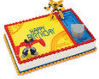 Transformers optimus prime bumblebee cake kit