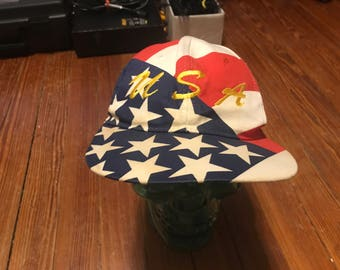 Vintage USA America Snapback hat Merica crazy all over print cool