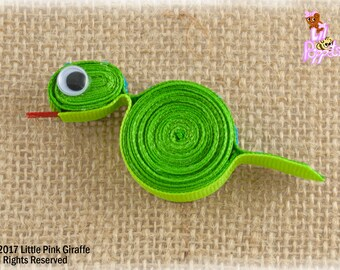 Lil' Poppet™ Scales, Snake Ribbon Sculpture Hair Clip or Brooch Pin
