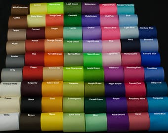 Ribbon 1 1/2 inch Solid Grosgrain Ribbon By the Yard, USA Made Ribbon, Hair Bow Ribbon, Wholesale Ribbon