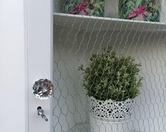 Corner Cabinet Unit ~ White ~ Shabby Chic Vintage ~ Cupboard