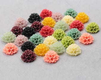 19mm Resin Flower Cabochons / Mixed Lot Resin Flowers Supplies Wholesale SZ-001-4