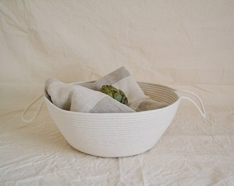 Rope basket, Storage basket,Toys basket, Bathroom storage basket, Hamper, Large Laundry Hamper, Medium  storage basket