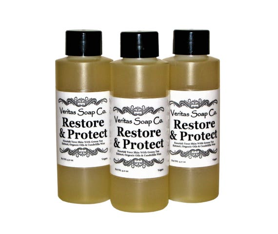 RESTORE & PROTECT  - Nourish your skin with Green Tea Extract, Organic Oils and Candelilla Wax - Vegan / Dry Skin / Dry Patches / Moisture