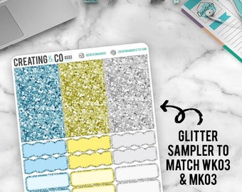 Faux Glitter Functional Sampler to match Spring Cleaning - GS03
