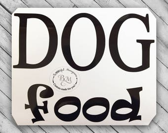 Dog Food Decal - Food Storage Sticker - Organization Labels - Pet Decals - Dog Food Stickers - Organization Stickers - Storage Container