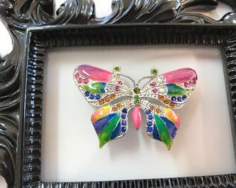 Rainbow Jeweled Butterfly Needle Minder