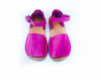 Adult Fushia Handcrafted Sandals