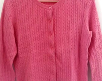 Lilly PulitzerPink Button Front Cable Cardigan