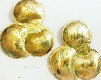 Orbit: Gilded, Vintage Brass Earrings