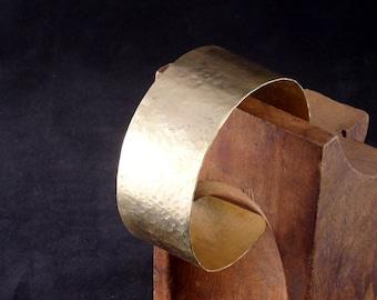 Brass Cuff Bracelet, Hand Hammered Brass Bracelet, Statement Jewelry, Boho Chic, Bohemian, Gypsy, Contemporary, Artisan, 21st Anniversary
