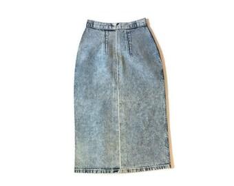Vintage Acid Wash Middie Skirt