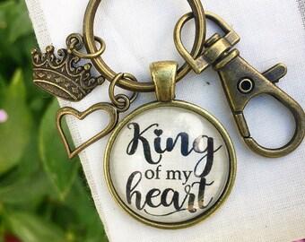 King of my Heart Keychain