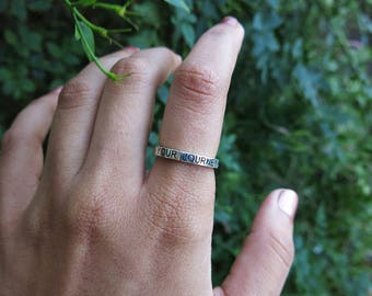 Trust Your Journey- Stacker Ring